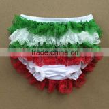 Fashion ruffle panties baby panties bloomer baby cotton bloomers christmas baby bloomers