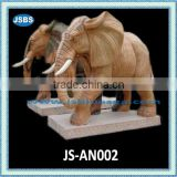 Stone carving of marble elephant sculpture