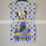 children's clothing brand baby girl denim vest waistcoat Mickey kids clothing