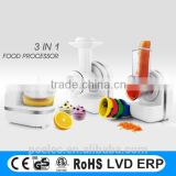 Innovative products for 2016, multifunction food processor, ice cream maker., orange juicer, slicer for home use
