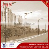 Hot sale steel pole for street light applicaion energy saving solar street light pole withe battery bracket for town villiage                                                                         Quality Choice