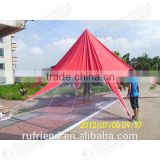 Custom home garden party tent shade shelter star