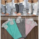 Fashionable wholesale various colors lace boot cuffs with button
