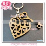 Custom Craft Wooden Heart and Key Shaped Keychain and Key ring Cute Craft ( wood Art/crafts in laser-cut & engraving)charm