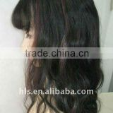 lace wig with hair bang,100% human hair,spring style, India remy/virgin hair,high quality