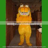 2015 hot customized cartoon character mascot costumes / Garfield mascot costume for sale