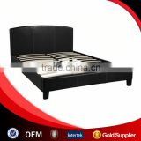 Double bed with wood slats