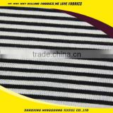 2015 basic stripe jersey fabric rayon polyester spandex for T-shirt or lady jacket