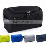 Hot sale large single color men cosmetic bag with handle for travel storage/ laundry bag