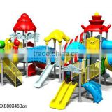 Outdoor <b>plastic</b> <b>playground</b> slide <b>equipment</b>