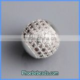 Wholesale 11MM CZ Rhinestone Copper Metal Crystal Ball Beads Fashion Jewelry Accessories PCZ-1101