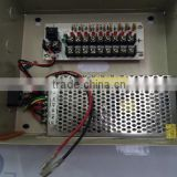 Wholesale Outdoor CCTV Power Supply 12V 10A With Metal Box to 9 Channel