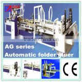 Technical support fully automatic corrugated board carton folder gluer with automatic strapping machine