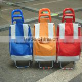 Used supermarket rack and trolley