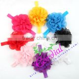 New Arrival Colorful Baby Girl Headband With Shabby Flower Rose, Christening, Wedding