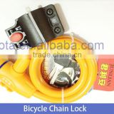 OEM/ODM service Anti Shear bicycle cable lock with keys electronic chain lock
