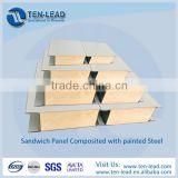 Container construction used prefab phenolic sandwich panel composited with steel structure
