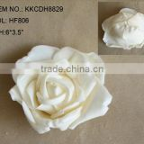 "2014 Elegant Artificial PE Flower 6"" Artificial PE Wedding Rose Head"