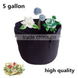 2pieces-5 gallon-Black Fabric Pots,Plant &Vegetable Round Pot Fabric Container-Fabric Grow Bag