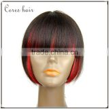 high density two tone OMB color Bob full lace human hair wig top quality short Bob style