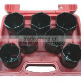 "1/2"" Drive 7 PCs Wheel Bearing Locknut Sockets Set, Truck Service Tools of Auto Repair Tools"