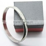 2013 Lover Charm Engrave Bangles Square Black Letters Bangles With Big Pure Stainless Steel Bracelet