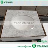 A grade white carrara marble countertop with competitive                                                                                                         Supplier's Choice