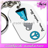 Sublimated metal dog tag custom cheap metal dog tag with long chain                                                                         Quality Choice