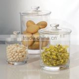 Hand blown airtight sealable italian glass dessert candy jars with lid
