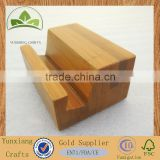 wooden / bamboo mobile phone holder, id card holder , wooden bottom seat