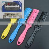 Best Quality DORC Razor Blade Comb Professional Home Thinning Trimmer Hairdressing Hair Razor Comb Scissor