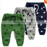 Custom Hot sale candy Size90~140 children pants for boys trousers girls clothing star fashion blue grey green kids casual pants