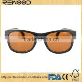 Most Fashion Handmade Wooden Bamboo Sunglases With Blue Lens For Men Wood Veneer Sunglasses With Acetate Temples Stock