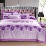 100% satin jacquard princess Bedding set 60s*60s purple luxury high quality duvet cover set