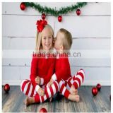 100% cotton factory directed trade assurance service long sleeve striped matching family pajamas christmas