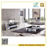 Modern living room sets furniture marble top metal design coffee table, tv stand and dining table