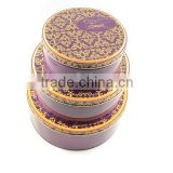 Guangdong Large decorative Round Stacble metal tin cans box