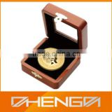 High Quality Customized Made In China Wooden Gold Coin Packaging Box
