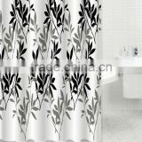 2015 fashion printed bamboo pattern print fabric for shower curtain