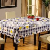 2015 Newest printed floral and floral design pvc table cover with lace/waved/straight edge