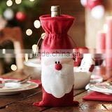 Christmas Santa Claus Wine Bottle Decoration Bag Cover for Xmas Gift Dinner Party Table Decor