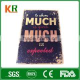 From factory decorative embossed real estate metal sign frames