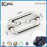 Nickel Metal Bag Strap Adjustable Slide Pin Buckle Belt For Bag Hardware