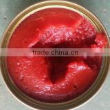Barrelled tomato paste of 100% purity packed in aseptic bags in drums