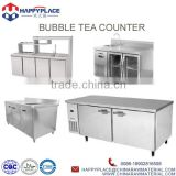 bubble tea counter for bubble tea store, stainless steel bubble tea kiosk counter, customized bubble tea equipment