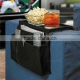 Guaranteed 100% oxford cloth 600D 6 Pocket Sofa Couch Arm Rest Organizer wholesale and retail