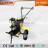 Mini Farm Rotary Machinery Paddy Field Machine 105FC honda tiller with gear box