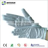 polyester comfortable esd working gloves