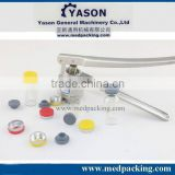 100sets (Flip Off Caps & Rubber Stoppers &Clear Glass Vials) + 1pcs 20mm vial crimper,manual capping machine
