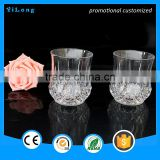 new style gleamy cup/Custom LED cup,flashing glass cup for drinking,Colorful light party cup